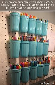 diy storage for markers and crafts this would be awesome in a craft room or craft corner especially if you have a bunch of awesome craft room
