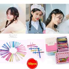 <b>50PCS</b> Invisible <b>Wave Flat Hairpin Barrette</b> Candy Color Bobby Pins ...