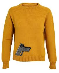 CATS BROTHERS <b>Pistol</b> Embroidered Shetland Wool Sweater