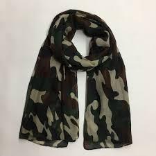 <b>2019 New Fashion</b> Ladies Army Green Camouflage Scarf Camo ...