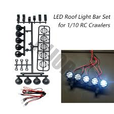 RC Car Roof LED Light <b>Bar Set 5</b> Spotlight for 1/10 RC Crawler ...