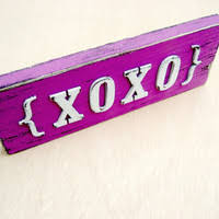 day orchid decor: xoxo sign valentines day decor love sign radiant orchid xoxo letters