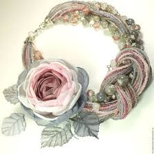 Дымно - <b>Розовый Сад</b>. <b>Колье</b> и брошь – заказать на Ярмарке ...