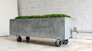 homemade moderns cool diy concrete planter with spigot cement furniture