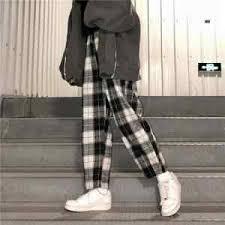 <b>HOUZHOU</b> Winter Warm Pants Women Korean Style Wide Leg ...