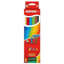 <b>Карандаши цветные Kores</b> Jumbo <b>6</b> цветов трехгранные с ...