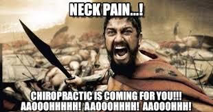 Neck Pain Chiropractic Sparticus