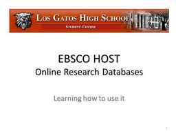 The Great Gatsby Research Hints T  Moore    March ppt download S TUDENT C ENTER EBSCO HOST Online Research Databases Learning how to use it