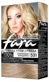 <b>Крем</b>-<b>краска для волос</b> Fara <b>Classic</b> 531 Платиновая блондинка ...