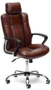 Купить кресло и <b>стул Tetchair Oxford</b>, <b>хром</b>/коричневый по ...