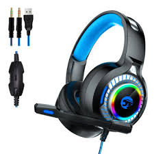 <b>a60</b> gaming headphone rgb <b>led light stereo</b> bass earphone wired ...
