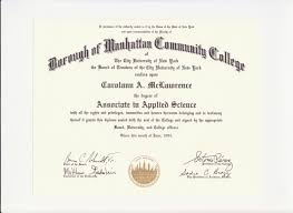 education degree certification carolann mclawrence s eportfolio new york city college of technology baccalaureate of nursing degree