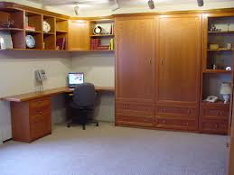 l shaped brown lacquer oak wood murphy bed with office desk and drawers also floating bookcase alluring murphy bed desk