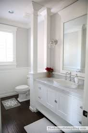 carrara marble bathroom bath top pb christmas in the powder bathroom just a few simple inexpensive things