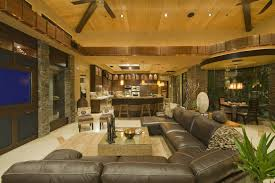 comfortable living room in luxury home with large leather sectional sofa big living room couches