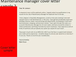 maintenance manager cover lettercover letter sample yours sincerely mark dixon    maintenance manager
