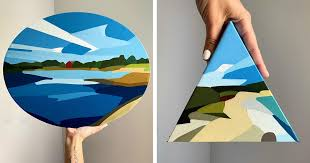 <b>Abstract Landscape</b> Paintings Capture the <b>Beauty</b> of Beaches