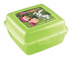 <b>Контейнер для бутербродов</b> Пластишка Маша и Медведь ...