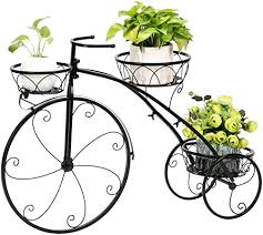 Metal Shelves Bicycle Shape 3 Layer Plant Stand ... - Amazon.com