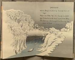 kenneth spencer research library blog ese block books image of poem snow from sword and