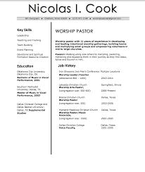 Resume Resume Pastor