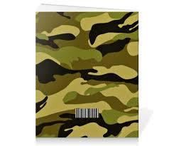 Тетрадь на скрепке <b>Военный</b>-Камуфляж #952920 от Ирина - <b>Printio</b>