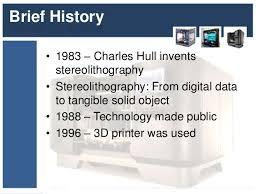 Резултат с изображение за 3d printer history