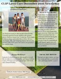 newsletter clip lawn care newsletter