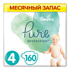 <b>Подгузники Pampers Pure</b> Protection, размер 4, (9-14 кг.), 160 шт ...