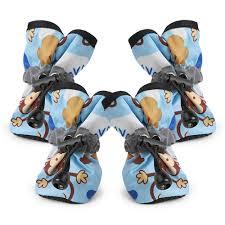 4pcs Waterproof <b>Pet Dog Shoes Cute</b> Monkey Animal Printed Boots ...
