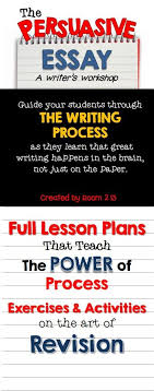Persuasive Essay Writing  A Journey Through the Process