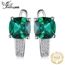 <b>Jpalace Simulated Nano</b> Emerald Pendant Necklace 925 Sterling ...
