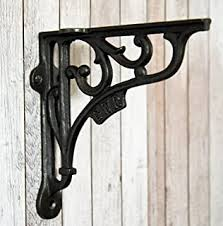 <b>set of 2</b> antique style Cast Iron Decorative Shelf Brackets #22