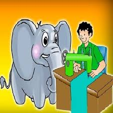Image result for an elephant and a tailor story