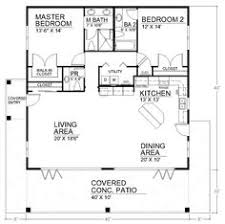 Two bedroom house  House plans and Large bathrooms on PinterestSpacious Open Floor Plan House Plans   the Cozy Interior  Small House Design Open Floor
