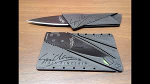 Cardsharp 2.0 <b>Credit Card Folding</b> Safety <b>Knife</b> - YouTube