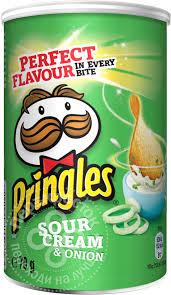 Купить <b>Чипсы</b> Pringles со <b>вкусом</b> сметаны и лука 70г с доставкой ...