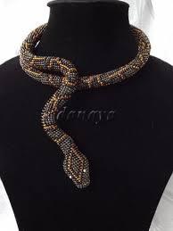 <b>Beaded</b> Snake <b>necklace</b>. Extraordinary! | <b>Bead</b> work jewelry ...