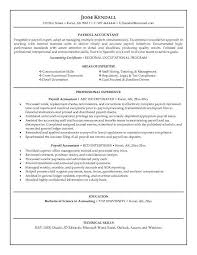 payroll accountant resume template examples of accounting resumes