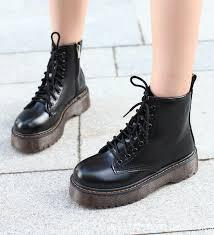 <b>New</b> fashion <b>patent leather Martin</b> shoes winter platform boots ladies
