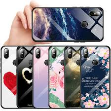 <b>Luxury Tempered Glass Phone</b> Case Cover For Xiaomi Mi A2 Lite ...
