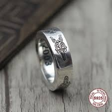 <b>S925 pure silver</b> men's ring <b>Restoring</b> ancient ways is unique ring of