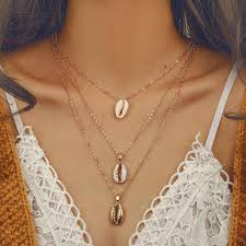Miss JQ <b>Boho</b> Multi layer <b>Ocean Seashell</b> Beach Pendants Necklace ...
