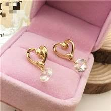 Earing <b>Heart</b> with <b>Zircon</b> Promotion-Shop for Promotional Earing ...