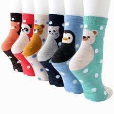 Hosiery & Socks 5 Pairs <b>Sweet</b> Casual Cotton <b>Cartoon Cat</b> Womens ...