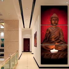 Wall Art Frame <b>Home Decor HD Printed</b> Buddhism Posters 3 Pieces ...