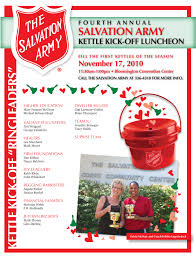salvation army kettle kickoff post  for