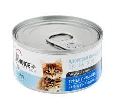 ZooMix <b>1stCHOICE Консервы</b> для котят, тунец премиум 85г