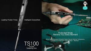 MINI <b>TS100 Digital</b> OLED Soldering Iron Unboxing And Review ...