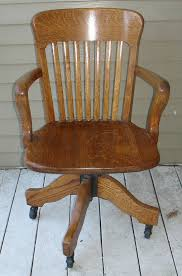 antique oak swivel office desk chair antique office chair